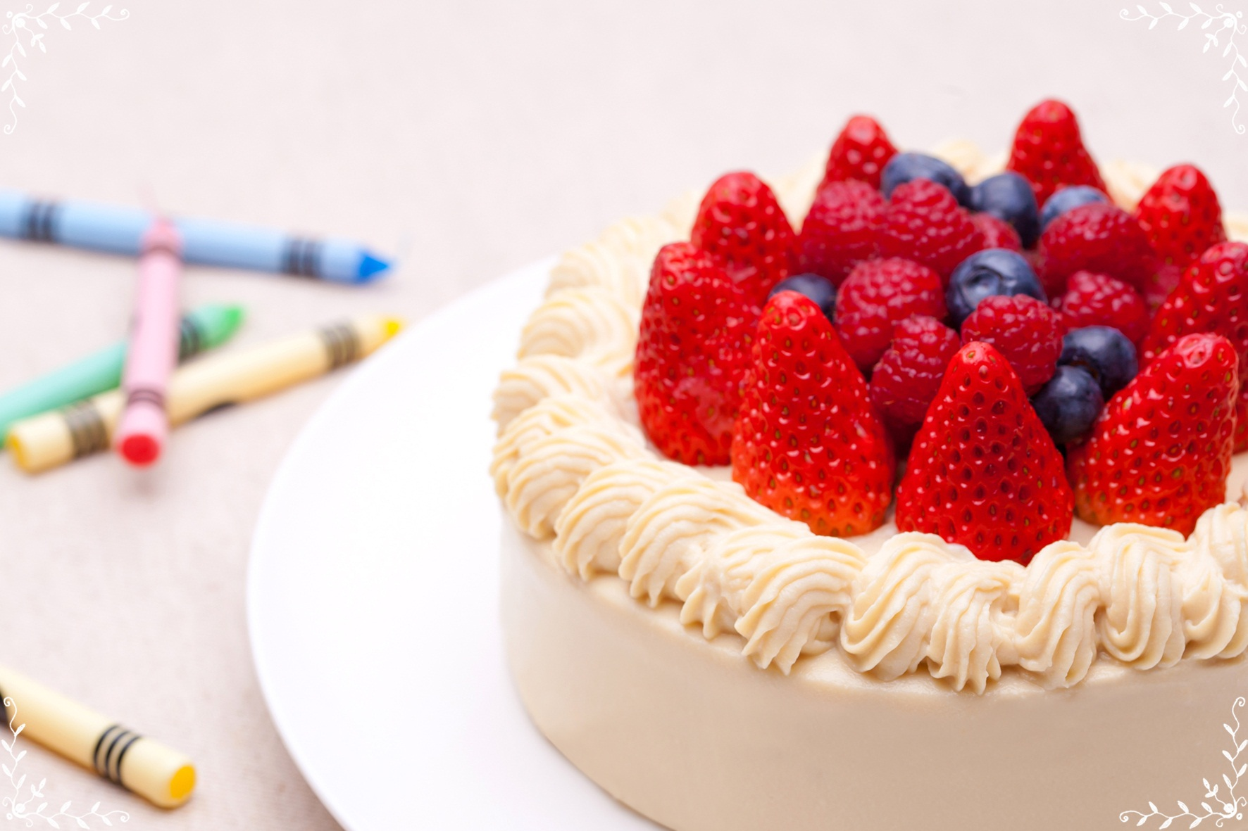 c豆乳クリームのバースデーケーキ